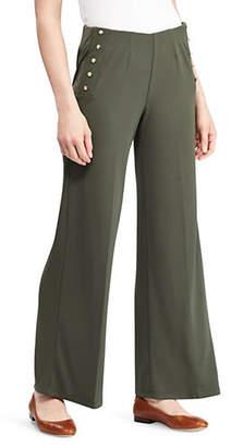 Lauren Ralph Lauren Flare Admiral Wide-Leg Jersey Pants