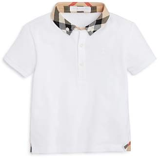 Burberry Boys' Mini William Check Collar Polo Shirt - Baby