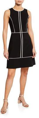 Kate Spade Sleeveless Paneled Crepe Dress