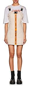 "Heron Preston Women's ""Handle With Care"" Cotton Harness Dress - White"