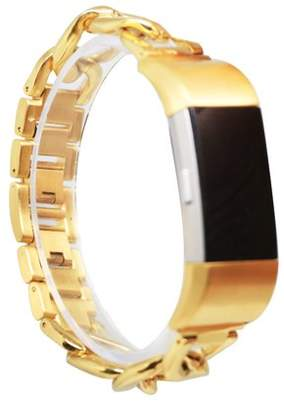 Fitbit Stainless Steel Replacement Band for Charge 2, Seraph Gear (Free Size) (Gold)