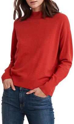 Velvet Cotton-Cashmere Mock-Neck Sweater