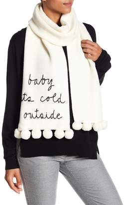 Kate Spade Baby It's Cold Outside Pompom Scarf