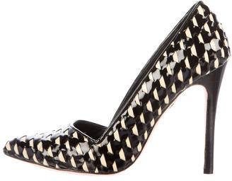 Alice + Olivia Alice + Olivia Patent Leather Pointed-Toe Pumps