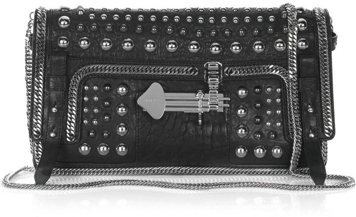 Emanuel Ungaro Studded leather clutch