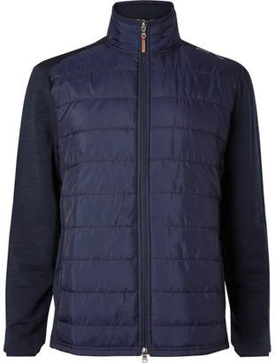 RLX Ralph Lauren Quilted Shell and Stretch-Wool Golf Jacket - Men - Navy