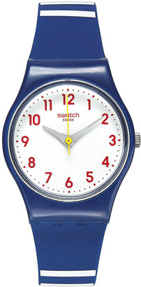 Swatch Women's Swiss Matelot Blue Silicone Strap Watch 25mm LN149 $50 thestylecure.com