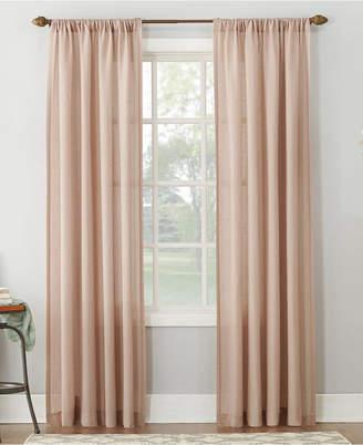 "Amalfi by Rangoni Lichtenberg No. 918 54"" X 63"" Linen Blend Textured Sheer Rod Pocket Curtain Panel"
