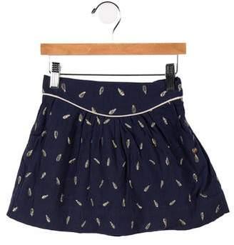 Lili Gaufrette Girls' Metallic Embroidered Skirt