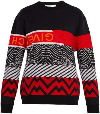 Givenchy Patterned-intarsia wool-blend sweater