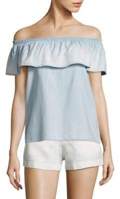 Joie Vilma Chambray Off-The-Shoulder Top