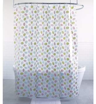 "Splash Home Delights Donuts PEVA Shower Curtain, 70"" x 7"" Inch, Lemon"