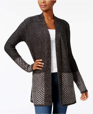 Karen Scott Long-Sleeve Border Cardigan, Created for Macy's $49.50 thestylecure.com