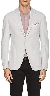 Barneys New York Men's Basket-Weave Cotton-Linen Two-Button Sportcoat - Cream