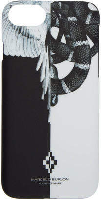 Marcelo Burlon County of Milan Black and White Snake Wing iPhone 8 Case