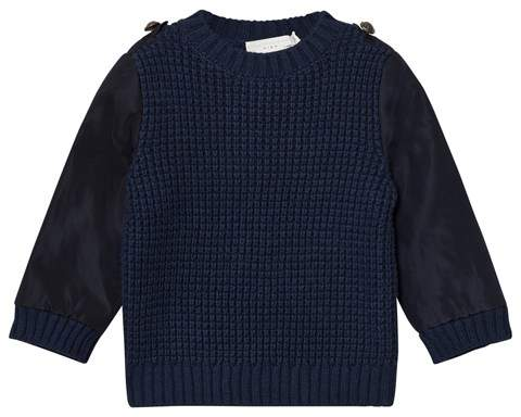 Navy Apollo Knit Jumper