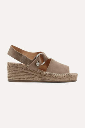 Rag & Bone Arc Suede Espadrille Wedge Sandals - Beige