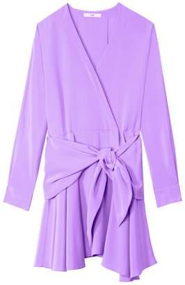 Tibi 4 Ply Silk Short Wrap Dress
