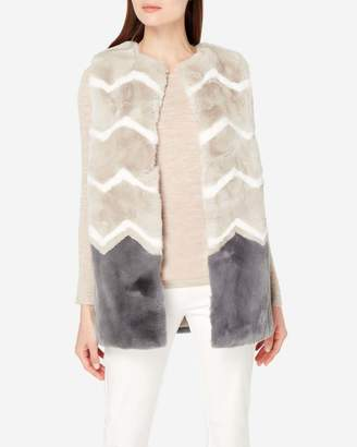N.Peal Chevron Fur Vest