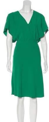 BA&SH Surplice Neck Midi Dress Surplice Neck Midi Dress