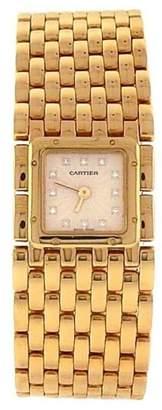 Panthere 2449 18K Yellow Gold Diamond Markers Quartz 21mm Womens Watch