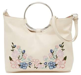 T-Shirt & Jeans Floral Embroidered Ring Crossbody Bag