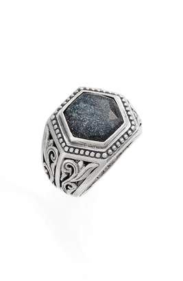 Konstantino Santorini Hematite Hexagon Ring