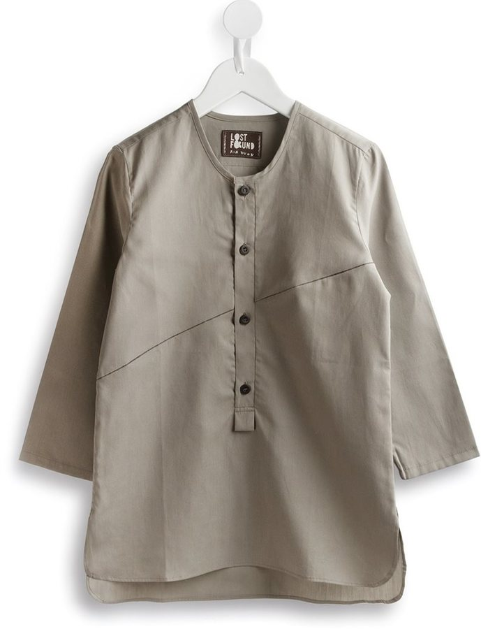 Lost And Found Kids diagonal panel shirt