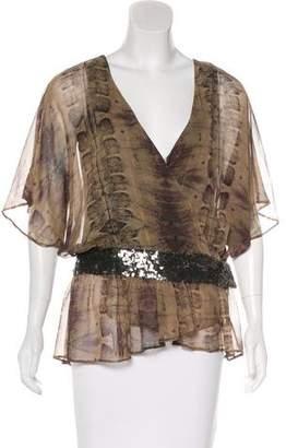 Haute Hippie Silk Printed Blouse