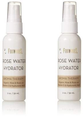 Frownies Rose Water Hydrator Spray, 2-Ounce Spray Bottle (Pack of 2)