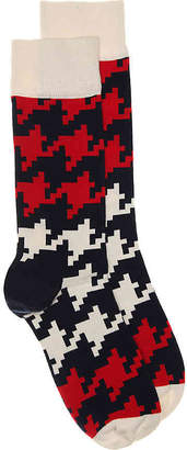 Happy Socks Dogtooth Crew Socks - Men's