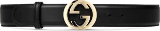 Gucci Leather belt with interlocking G