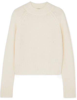 Vince Cropped Cashmere Sweater - Cream