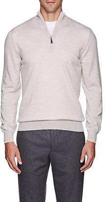 Barneys New York Men's Mélange Wool Quarter-Zip Sweater