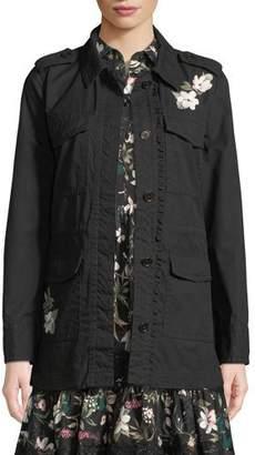 Kate Spade Floral Four-Pocket Army Jacket