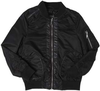 John Richmond Matte Nylon Bomber Jacket
