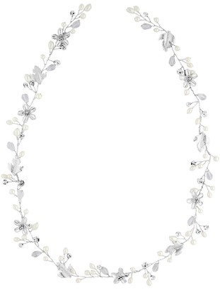Jon Richard Jewellery Silver Crystal And Pearl Hair Vine