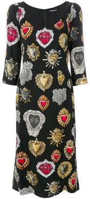 Dolce & Gabbana jewel print dress