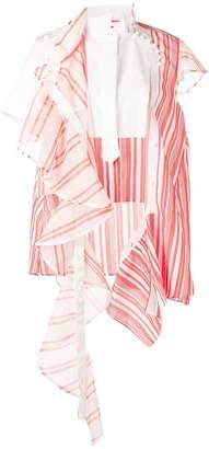 Sacai deconstructed striped dress