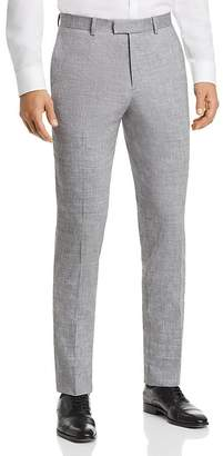 Theory Mayer Solid Slubbed Summer Slim Fit Suit Pants