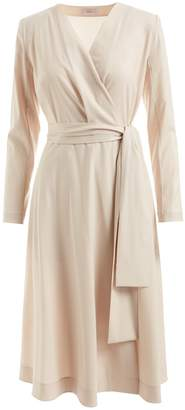 WtR - Susan Wrap Wool Dress Champagne