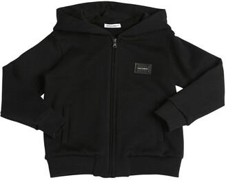 Dolce & Gabbana Logo Zip-up Cotton Sweatshirt Hoodie