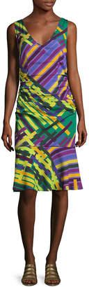 Tracy Reese Silk Print Flounced Tank Dress