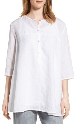 Women's Eileen Fisher A-Line Organic Linen Tunic $218 thestylecure.com