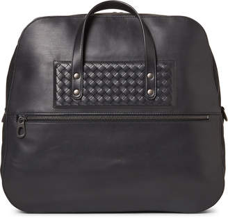 Bottega Veneta Black Leather Duffel Bag