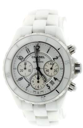 Chanel J12 H1007 Chronograph White Ceramic Stainless Steel 41mm Watch