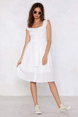 Nasty Gal Don't Worry Your Pretty Little Thread Broderie Dress