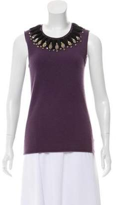 Tory Burch Embellished Cashmere Sweater