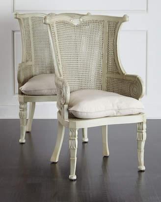 Cypris Cane Chairs Pair