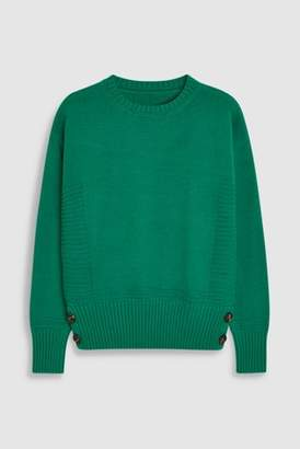 Next Womens Green Crew Neck Sweater